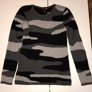 Aqua Cashmere Camo Sweater